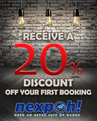 Graphic for 20% discount promotion